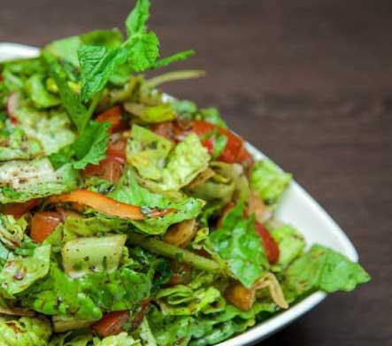 One of Mini Hiba's many delicious salad dish